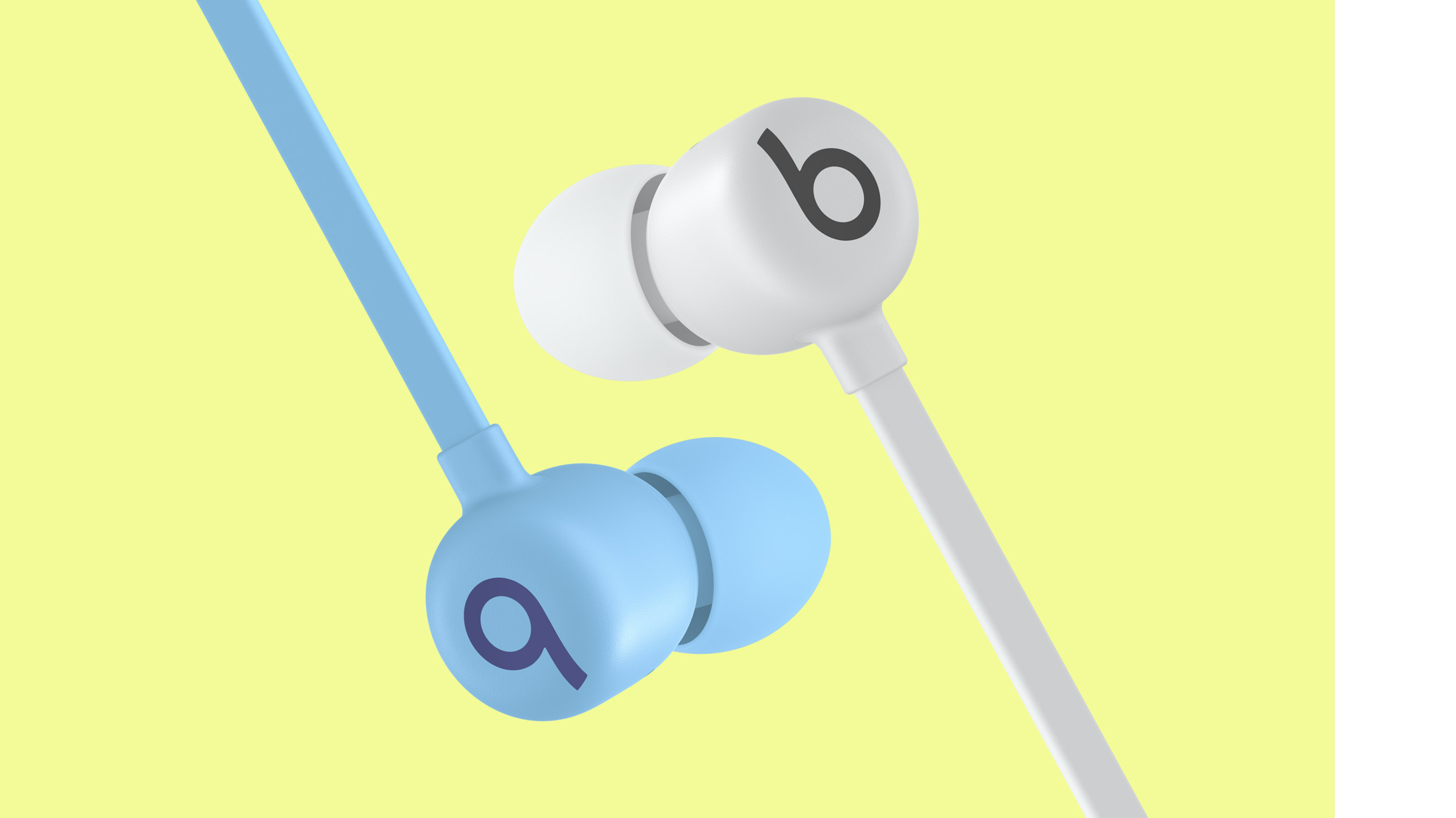Close up of Beats Flex with earbuds connected magnetically